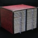 Microslidestorageboxwithmetalcornersandleathercover